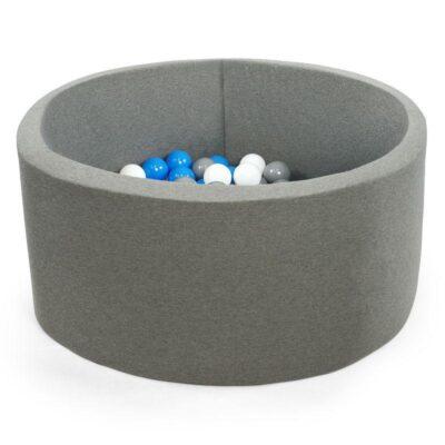 Misioo boldbassin grå - rundt 90 x 30 (inkl. 200 bolde)