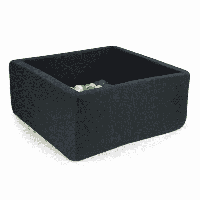 Misioo boldbassin graphite - firkantet 90 x 90 x 40 (inkl. 200 bolde)