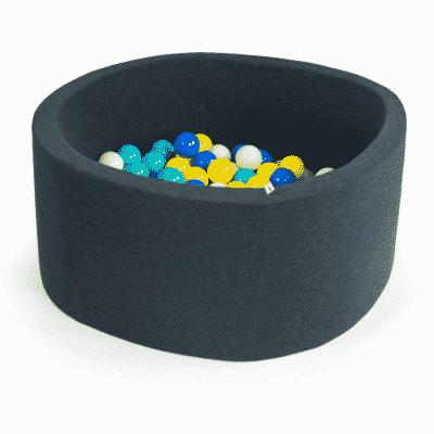 Misioo boldbassin graphite - rundt 90 x 30 (inkl. 200 bolde)