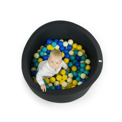 Misioo boldbassin graphite - rundt 90 x 40 (inkl. 200 bolde)