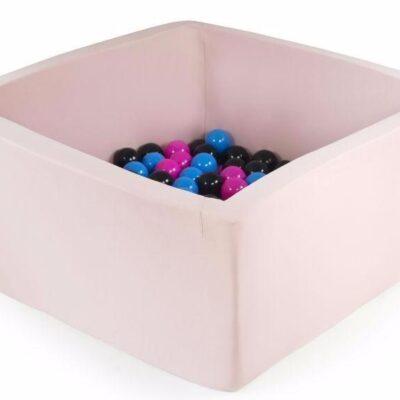 Misioo boldbassin lyserød - firkantet 90x90x40 (inkl. 200 bolde)