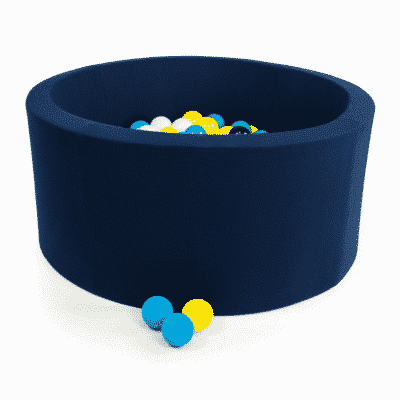 Misioo boldbassin navy blå - rundt 90 x 40 (inkl. 200 bolde)