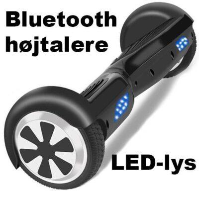 "Segboard 6,5"" m Bluetooth, LED-Lys, fjernbetjening"