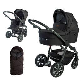Babynor kombivogn med kørepose - Svala - Sort