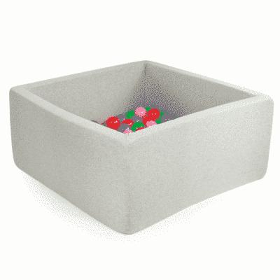 Misioo boldbassin lysegrå - firkantet 110x110x40 (inkl. 400 bolde)
