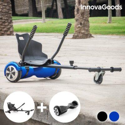 """Innovagods 2-i-1 Hoverkart + Hoverboard Pakke - 7"""" - 10 Km/t - Blå"""