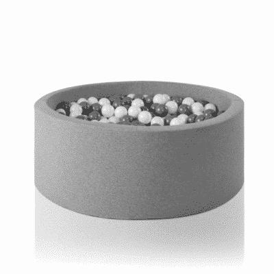 Misioo boldbassin lysegrå - rundt 115 x 40 (inkl. 500 bolde)
