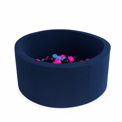 Misioo boldbassin navy blå - rundt 90 x 30 (inkl. 200 bolde)