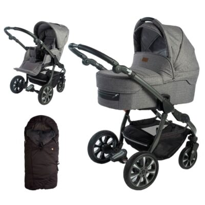 Babynor kombivogn med kørepose - Svala - Grå