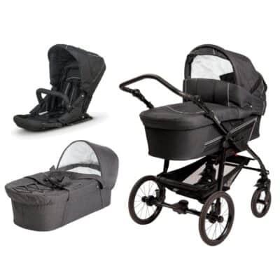 BabyTrold kombivogn - Star - Ebony