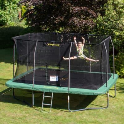 Jumping trampolin med net - Rektangulær - 430 x 305 cm