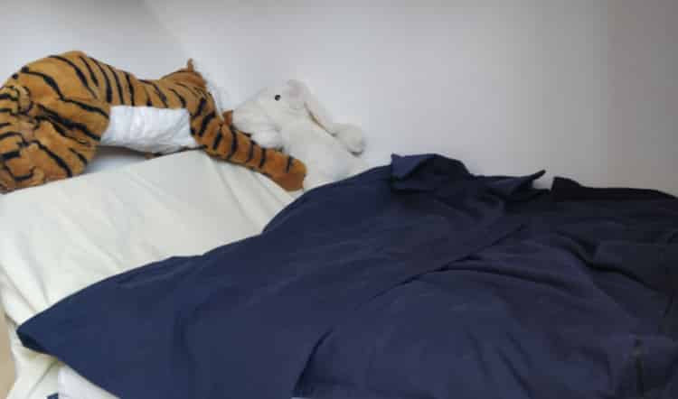 kugledyne og seng