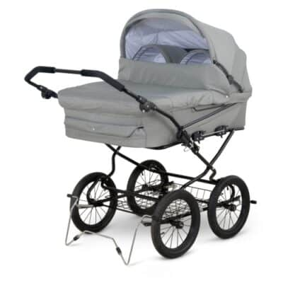 Babytrold tvillingebarnevogn - Trille Twin - Grå melange