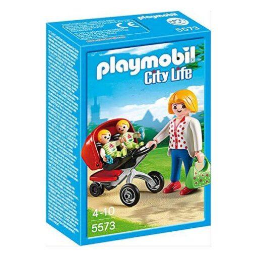 Playset City Life - Mor Med Barnevogn Til Tvillinger - 5573